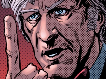 File:Third Doctor pointing Prisoners of Time.jpg