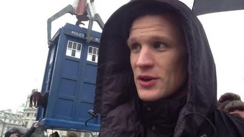 The Doctor at Trafalgar Square - Doctor Who 50th Anniversary Special - BBC One