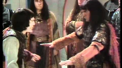 Ky and Varan clash - Classic Doctor Who The Mutants - BBC