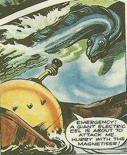 Electric eel menaces Emperor MenaceMonstrons