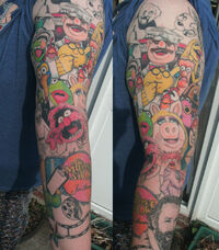 Muppet show tattoo sleeve by jinxiejinx13