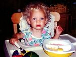 Baby Taylor eating