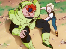 Android 18 helping Android 16