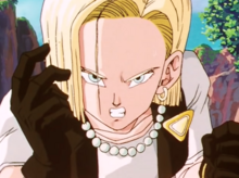 Android 18 angry