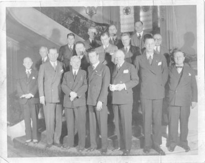 Members of the Technical Alliance at Columbia University, 1930