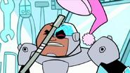 Cyborg hates sleep figthing