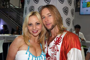 Greg Cipes and Tara Strong SDCC 2014