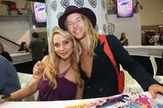 Tara Strong and Greg Cipes at TTG signing at SDCC 2016