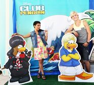 Chrissie and Ross with their penguins