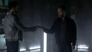 Teen Wolf Season 4 Episode 5 IED Derek and Chris in the vault