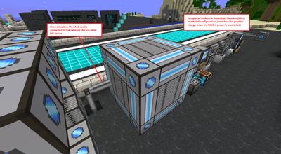 4xcube ME Molecular Assembler Chamber