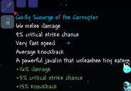 Godly scourge of the corruptor