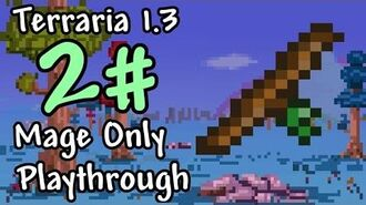 Expert Mode Terraria Mage Only Wand of Sparking Episode 2