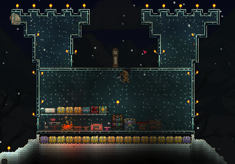 Image Glass House In Snow Biome Png Terraria Wiki