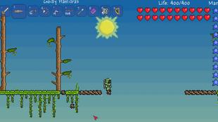 Meteor in jungle skybridge