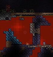 Cursed Flame in lava