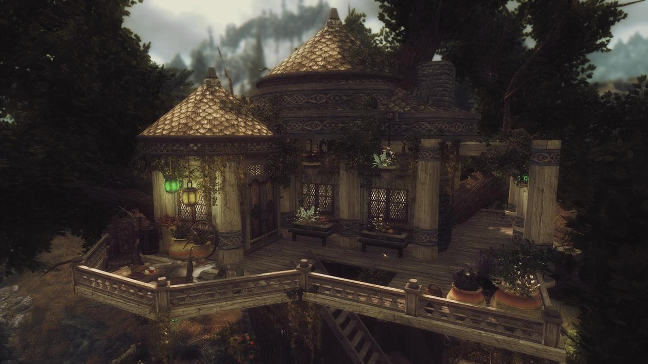 Elisdriel Bosmer Inspired Tree House The Elder Scrolls
