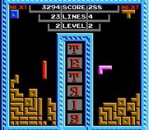 Tetris NES Tengen gameplay