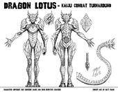 The Beautiful Dragon Lotus Model-Sheet Turnaround by Matt Frank