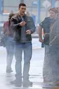 Aaron taylor johnson on set