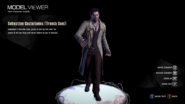 Sebastian Castellanos with trench coat model viewer (full body)