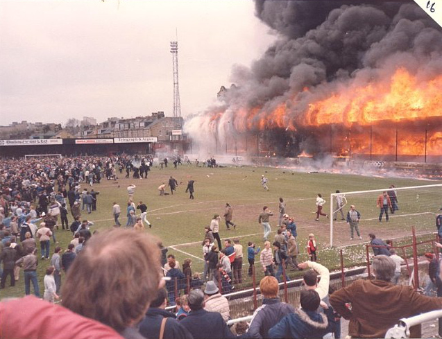 Image result for Bradford City stadium fire