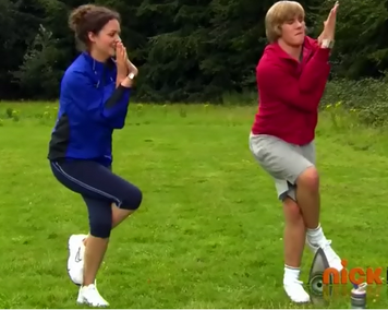 Mick and Mrs. Robinson are training