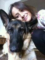 Klariza and her dog