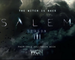 Salem S3 Promotional Halloween poster