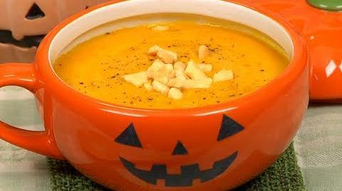 How to Make Halloween Pumpkin Potage ハロウィンのカボチャのポタージュ作り方