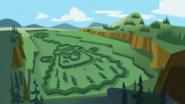 S2e20a lawn in the shape of grumpy