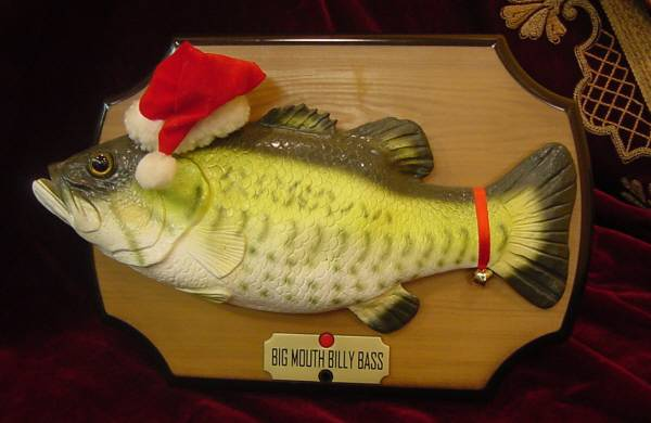 Big mouth billy bass christmas edition the all about for Talking bass fish