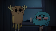 Penny Fitzgerald is looking at Gumball Watterson's eyes on The Shell