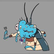 Mutated cockroach gumball