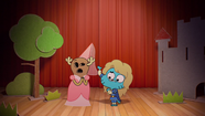 Penny Fitzgerald and Gumball Watterson at the schoolplay on The Shell 2