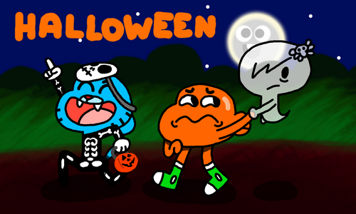 Gumball Wiki Halloween Theme by LegoKirby12