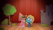 Penny Fitzgerald and Gumball Watterson at the schoolplay on The Shell 12