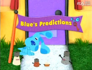 Blue's predictions title card