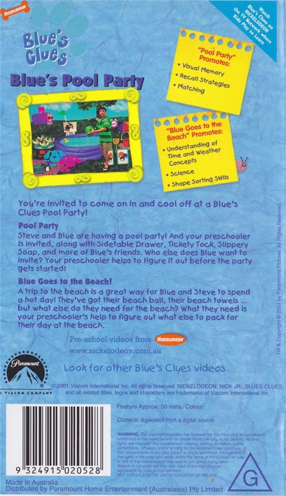 Image pool party back blue 39 s clues wiki fandom powered by wikia - Pool and blues ...