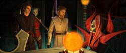 Anakin Obi-Wan speak with Talzin-WOTM