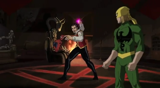 doctor stranges mansion ultimate spiderman animated