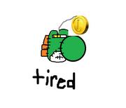 Tired yoshi doll