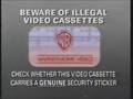 Warner Home Video Piracy Warning (1991) Hologram