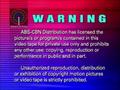 ABS-CBN Distribution Warning Screen