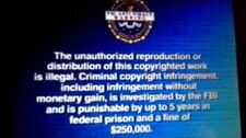 FBI Anti-Piracy Warning Screen