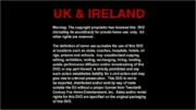 20th Century Fox Home Entertainment UK & Ireland Warning DVD (1999)