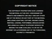 Copyright Notice 2001 Warning Screen