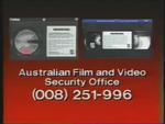 CBS-FOX Video Australian Piracy Warning (1988) AFaVSO information
