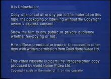 Guild Home Video (Warning 2)