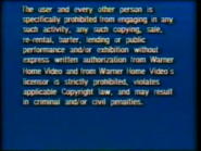 Warner Home Video UK Rental Warning (1980's) (S2)